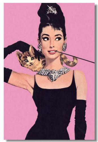 audrey hepburn breakfast at tiffany poster pink background cool wholesale. Black Bedroom Furniture Sets. Home Design Ideas