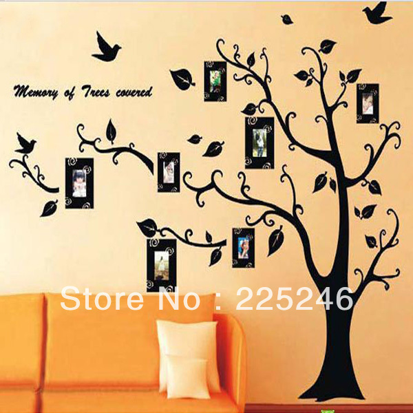 Family Tree with Hanging Photo Frames Wall Sticker Decal Art Deco ...