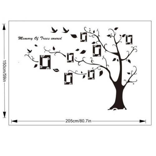 Family Tree With Hanging Photo Frames Wall Sticker Decal Art Deco