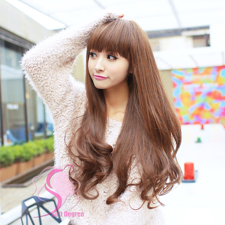 Long Wavy Soft Hair Wig Good For Change Of Hairstyle